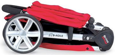 The B-Agile Stroller When Folded