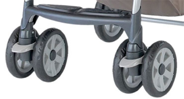 The Chicco Cortina Keyfit Lockable Front Wheels