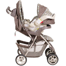 The Graco Spree Side View Both Car Seat And Stroller