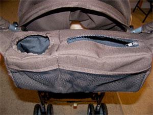 Parent Tray Located At Handlebar